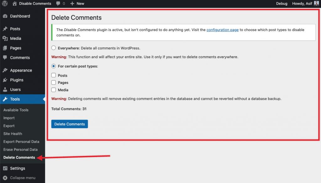 彻底禁用评论功能WordPress插件Disable Comments (https://www.wpcun.com/) SEO优化 第1张
